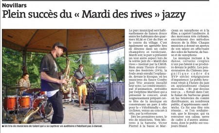 concert Sauce Combo jazz trio 18 / 08 / 2015